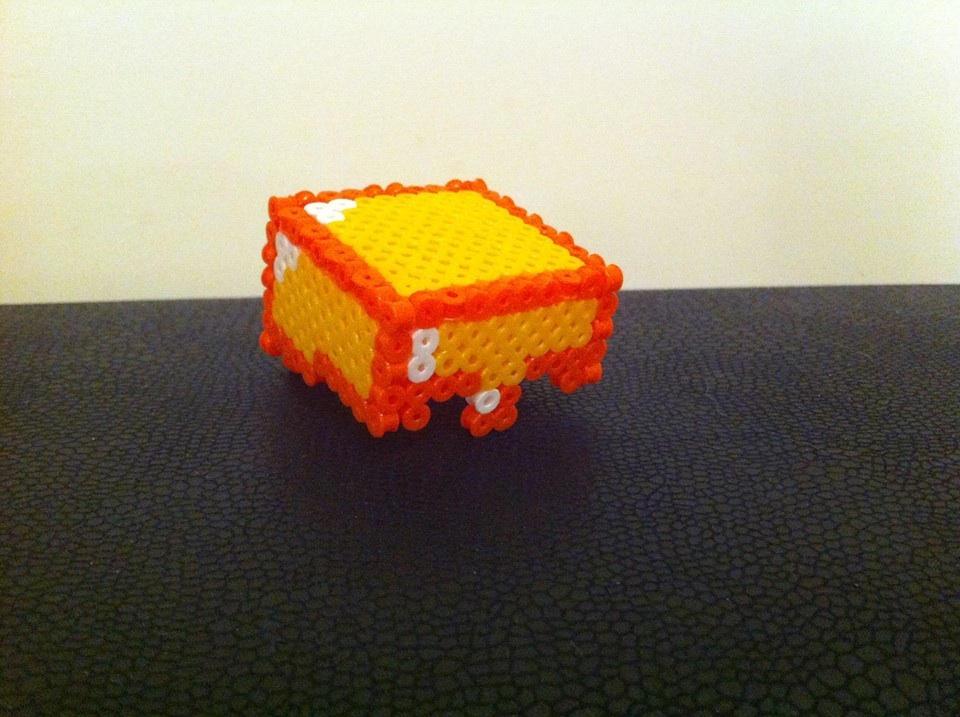 3d Perler Bead Minecraft Gold Helmet By Rest In Pixels On