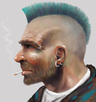 Mohican Portrait by GrungeTV