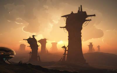 The Ruins of Senn-Vyvehrr by GrungeTV