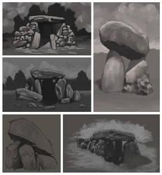Dolmen sketches