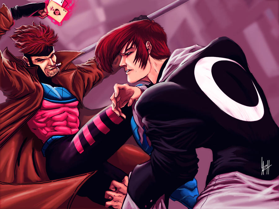 Gambit vs Iori Yagami by LaRhsReBirTh