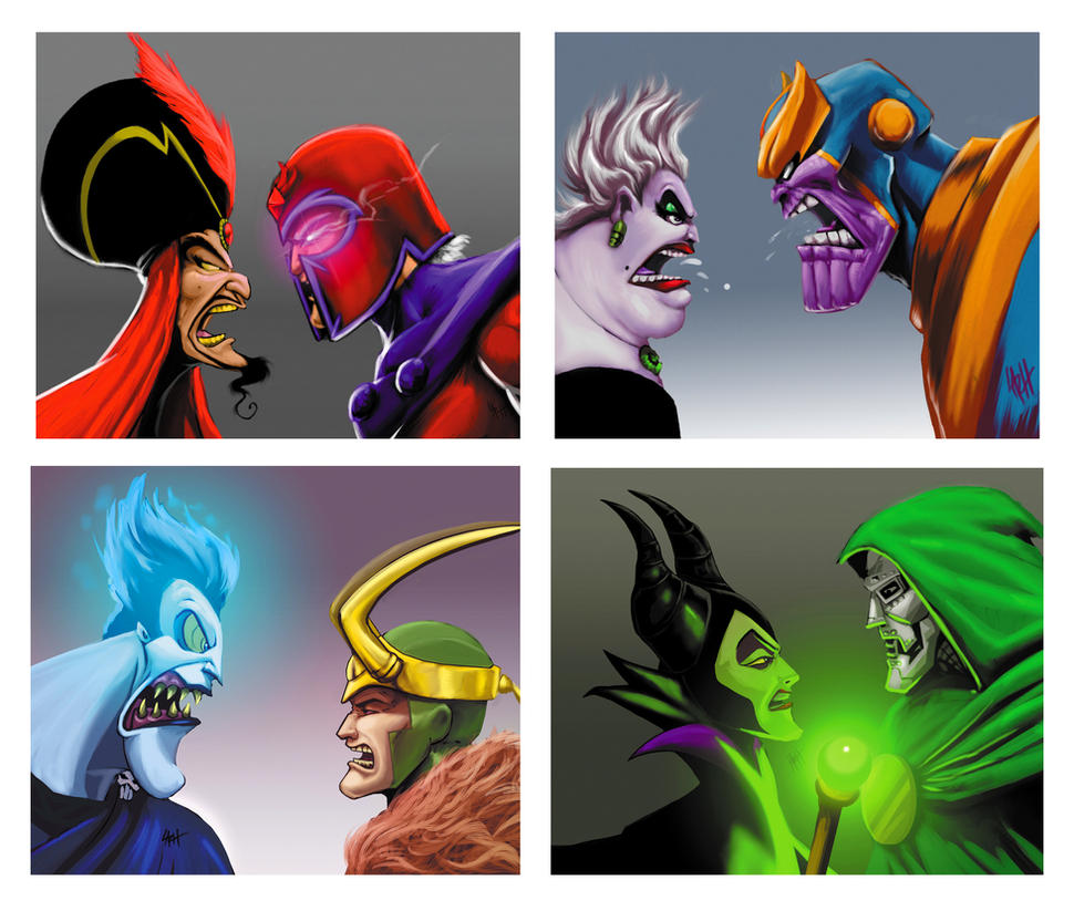 Disney Villains vs Marvel Villains by LaRhsReBirTh
