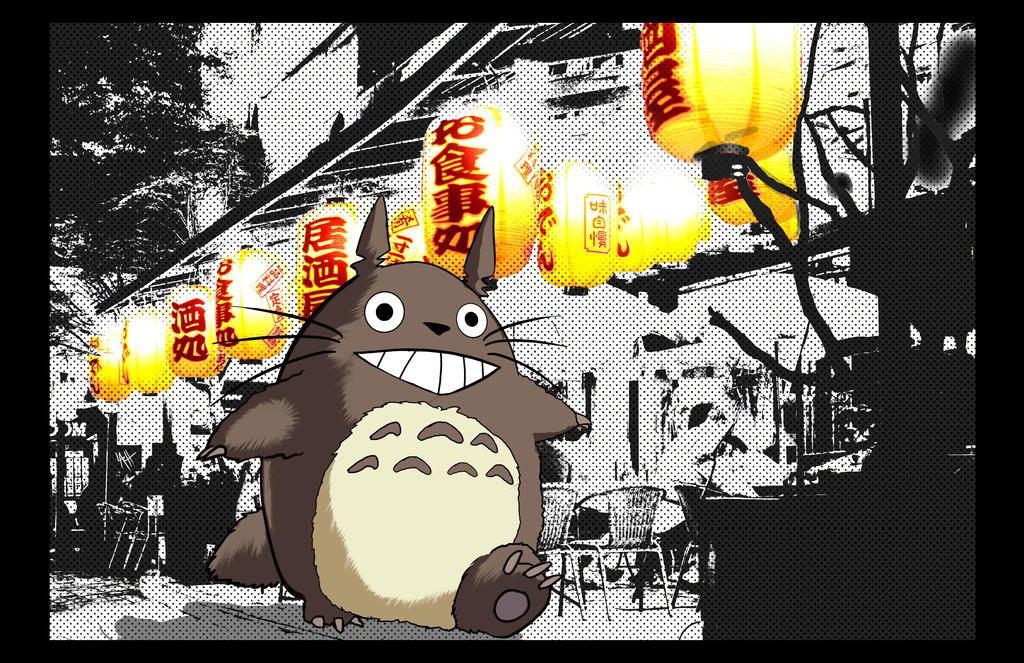 Totoro  walkingin around japan by LaRhsReBirTh