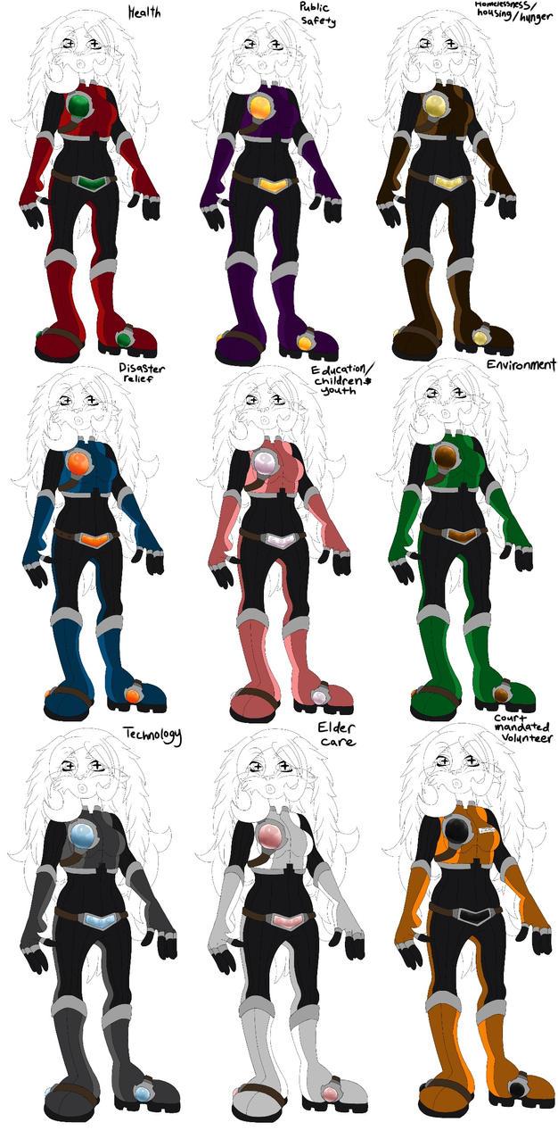 Finished Galaxy corp uniforms! by Musicisinspirational