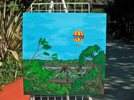 Gilroy Gardens live paint Train trussel by Anthony-aggro