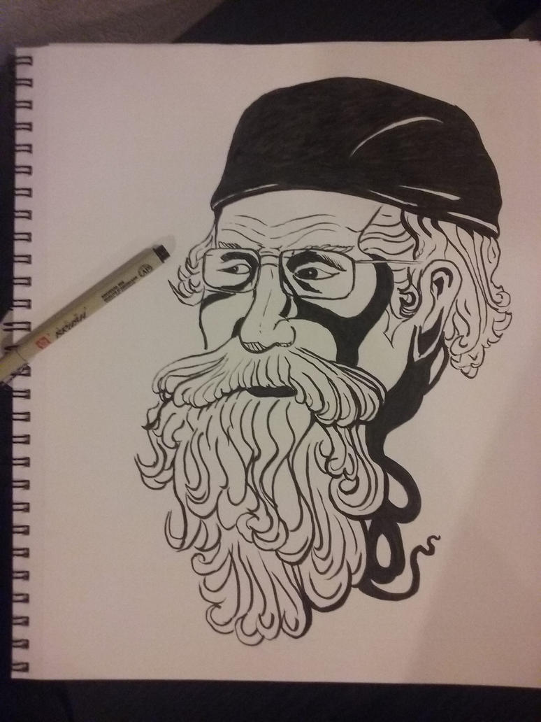 Drawing and inking of a friend by Anthony-aggro