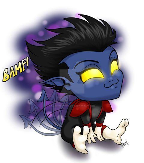 X-Men: Chibi Nightcrawler by RavenHeartStudios on DeviantArt X Babies Nightcrawler