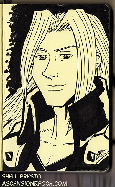 Sephiroth in Ink by shellpresto