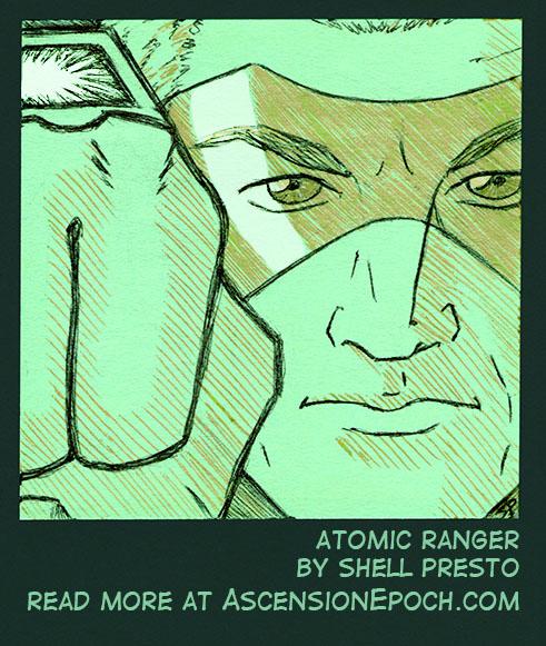 Atomic Ranger on a Post-It by shellpresto