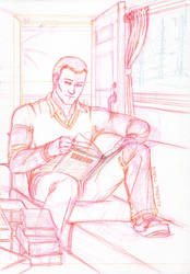 [+Video] I Like Books More Than Most People sketch by shellpresto