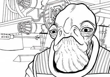 Admiral Raddus Learns of Scarif by shellpresto