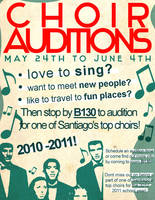 choir auditions poster by k3ltr0n