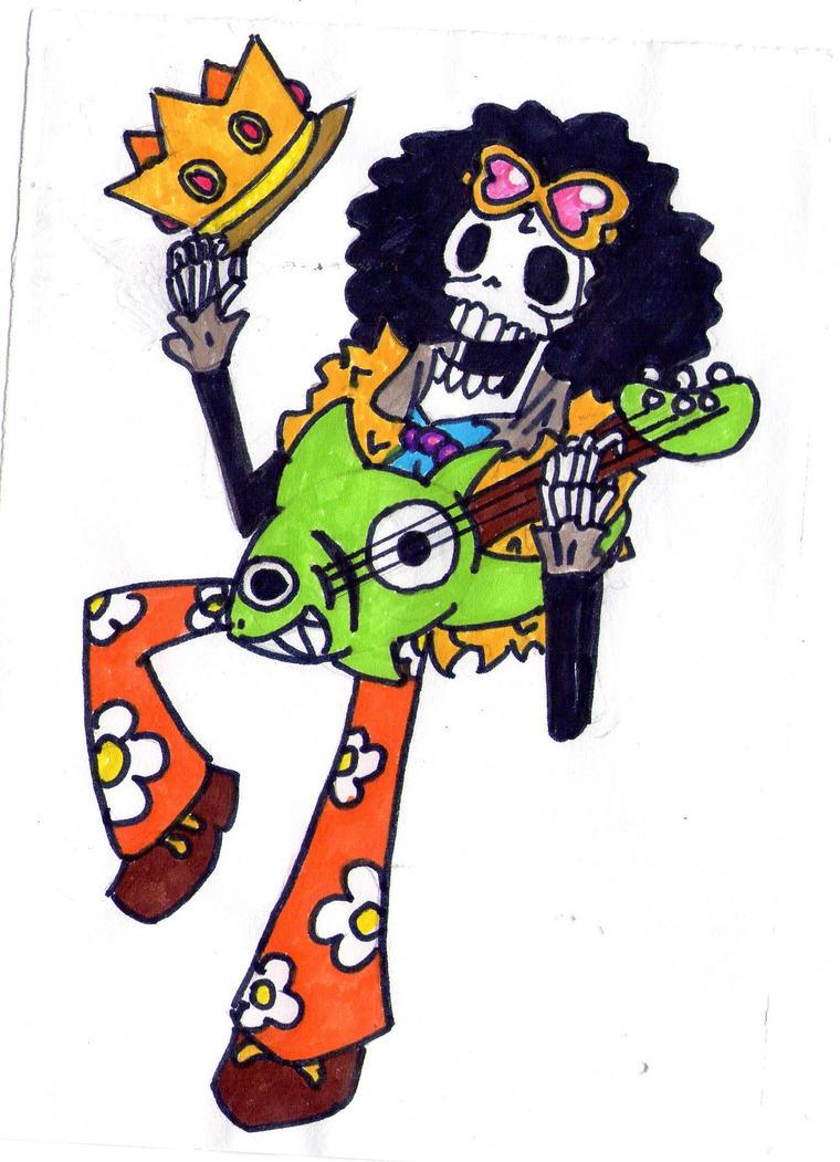 One Piece Chibi Brook Chibi Soul King Brook ...