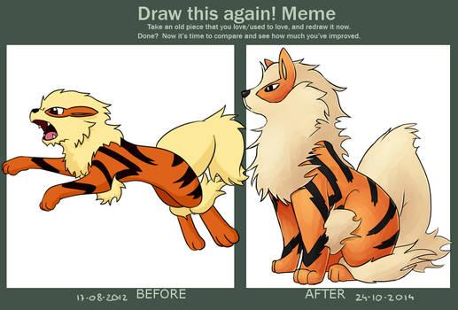 Draw this again!: Arcanine