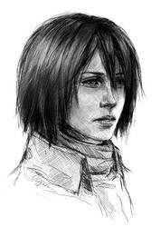 Mikasa. Shingeki no Kyojin by Olggah
