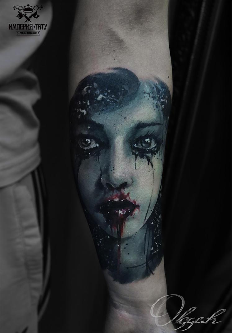 Bloody girl by Olggah