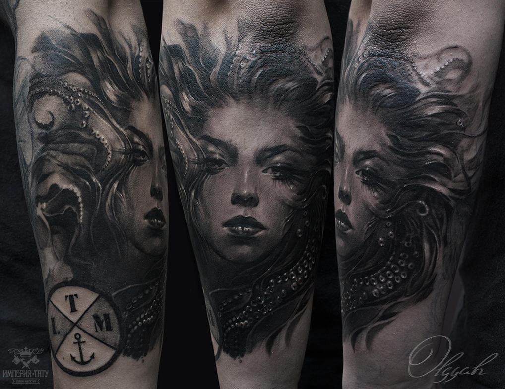 Ink tattoo by Olggah