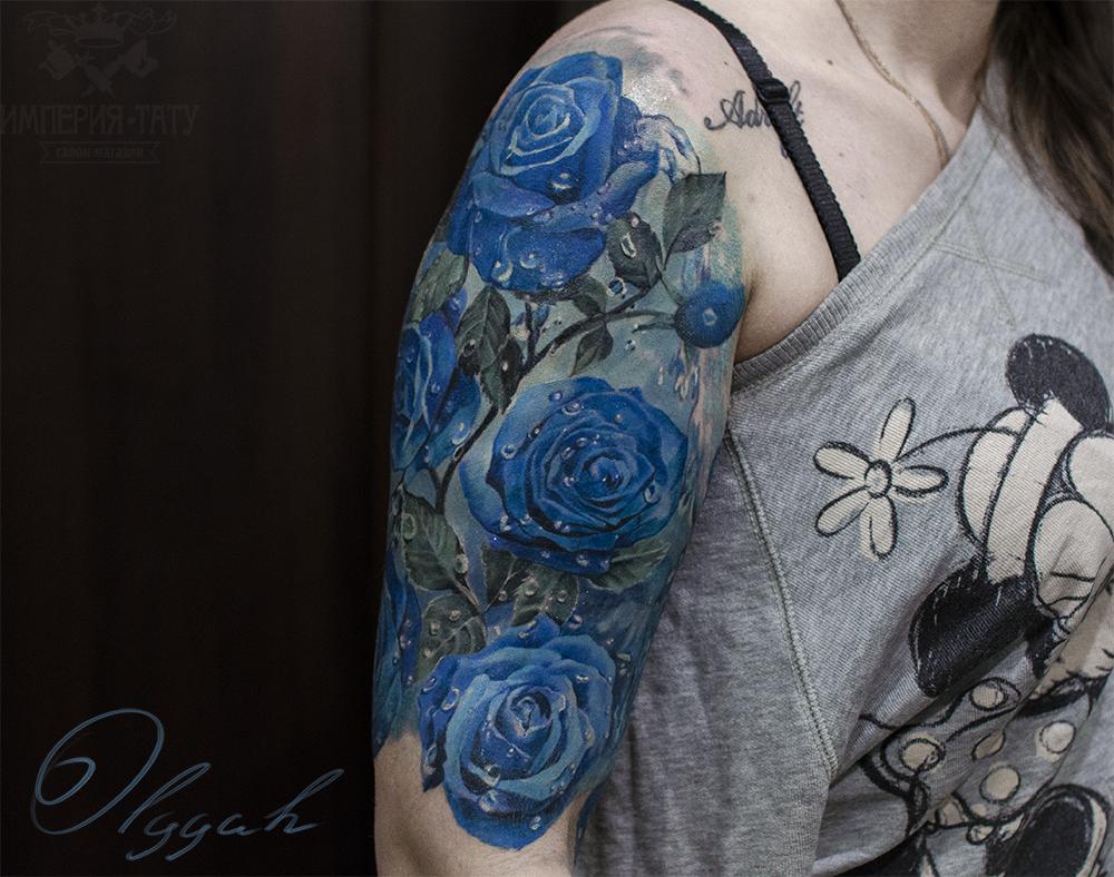 blue roses by olggah on deviantart. Black Bedroom Furniture Sets. Home Design Ideas