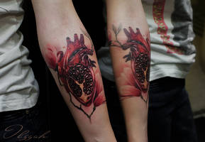 Pomegranate heart by Olggah