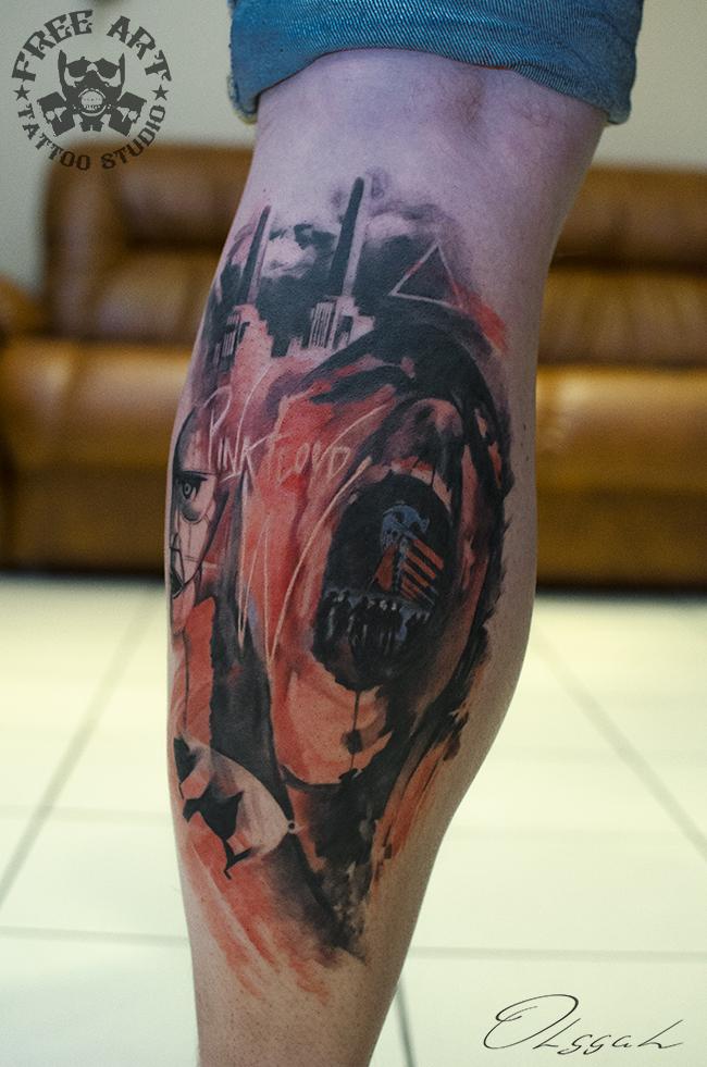 Pink floyd by olggah on deviantart for Pink floyd tattoo