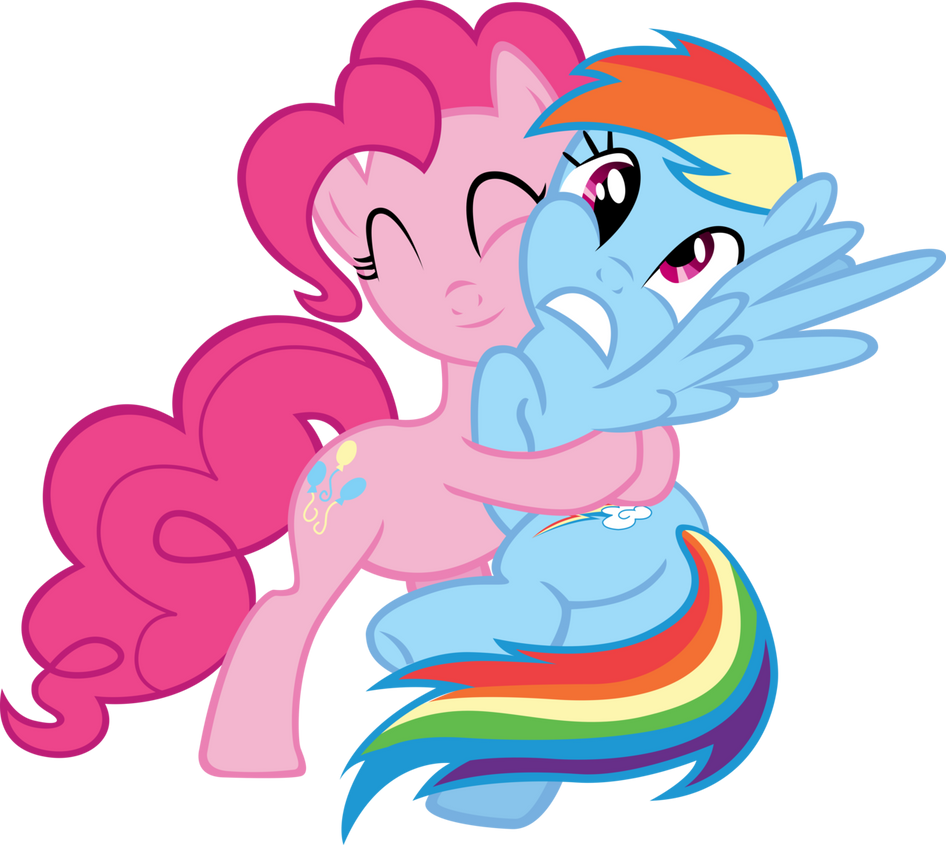 Pinkie Pie and Rainbow Dash by ligavima on DeviantArt