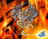 Dragon Vs Serpent by silverdarkhawk