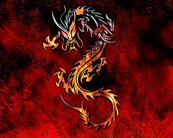 Fire Dragon Wallpaper by silverdarkhawk