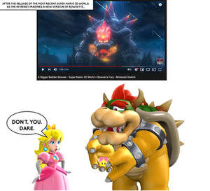 (MMD COMIC) Don't You Dare Again, Bowser