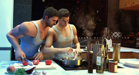 Meme 05 - Cooking or baking together