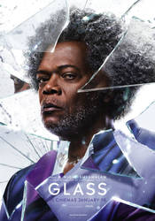 Glass (2019) - Elijah Price Poster by williansantos26