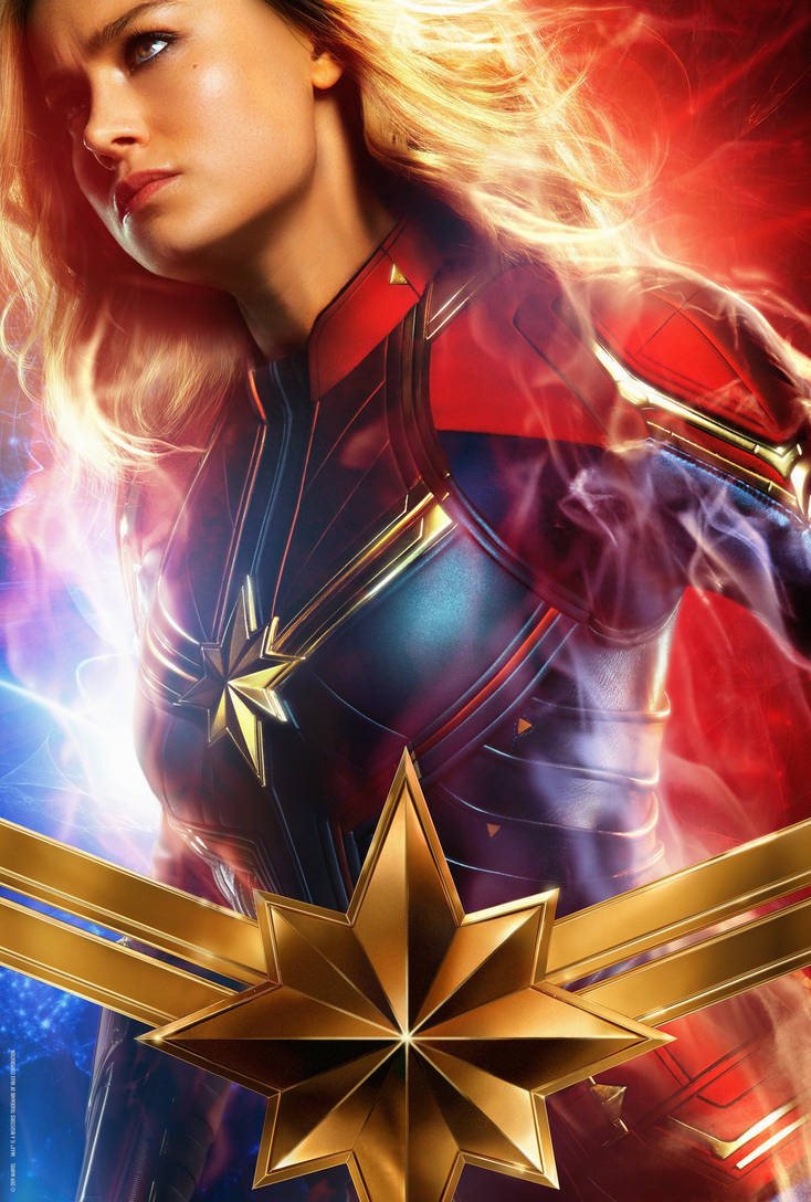Carol Danvers Poster Textless Captain Marvel By Williansantos26