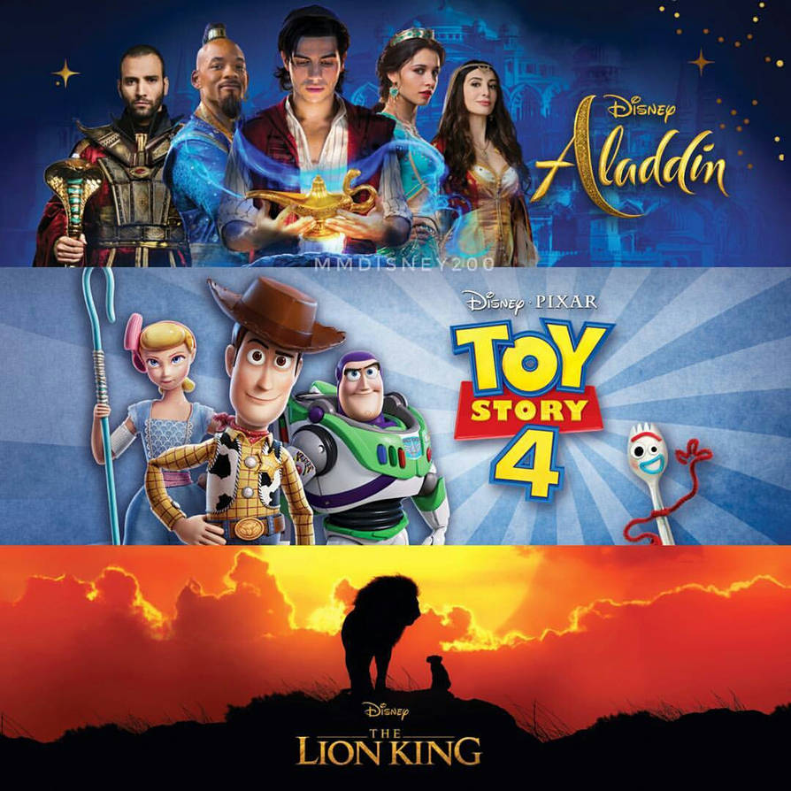 Aladdin, Toy Story 4 and The Lion King - Banners by ...
