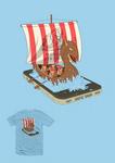 Mobile Vikings t-shirt design