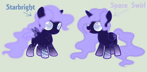 [WoE AU] Starbright and Space Swirl by LilyRoseOfFantasy