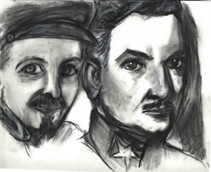Voroshilov and Bukharin by Delishen