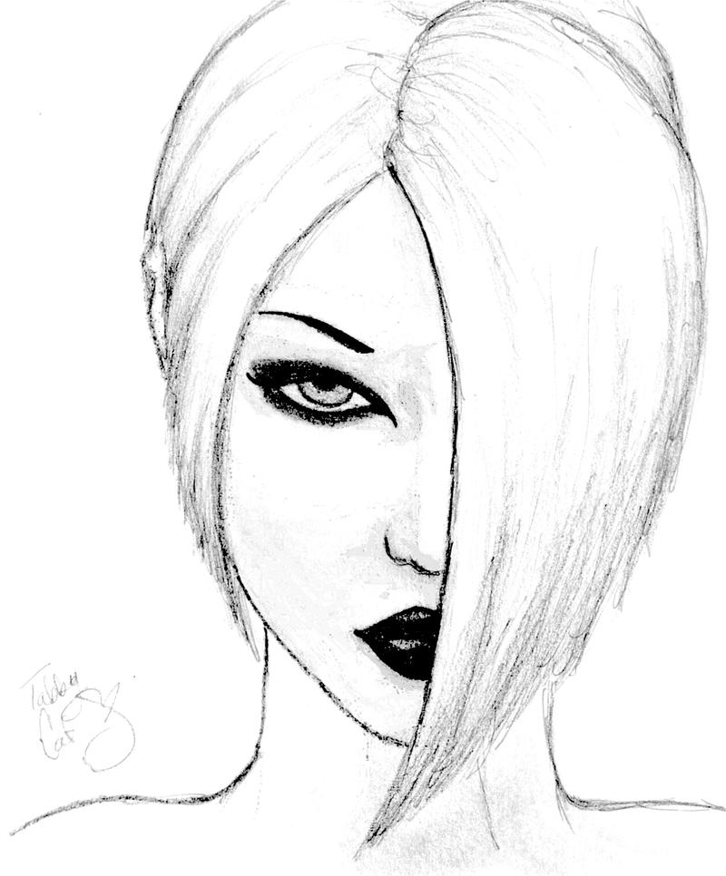 vampire girl drawings easy sketch coloring page