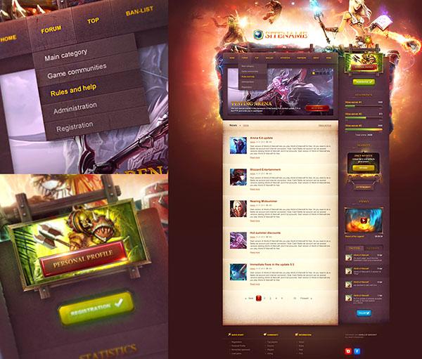 game portal website template by dkartsstudio on deviantart. Black Bedroom Furniture Sets. Home Design Ideas