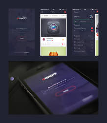 DiSHOTS Mobile UI by DKartsStudio
