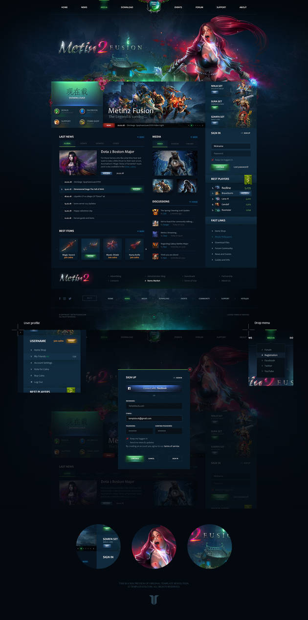 Metin2 Fusion Website Template