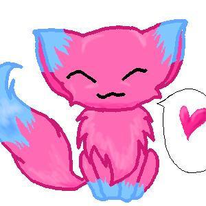 Синий и розовый кот