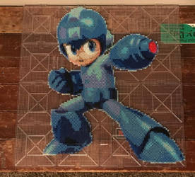 Mega Man SSBY Perler