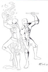Iron Fist + Dare-Devil