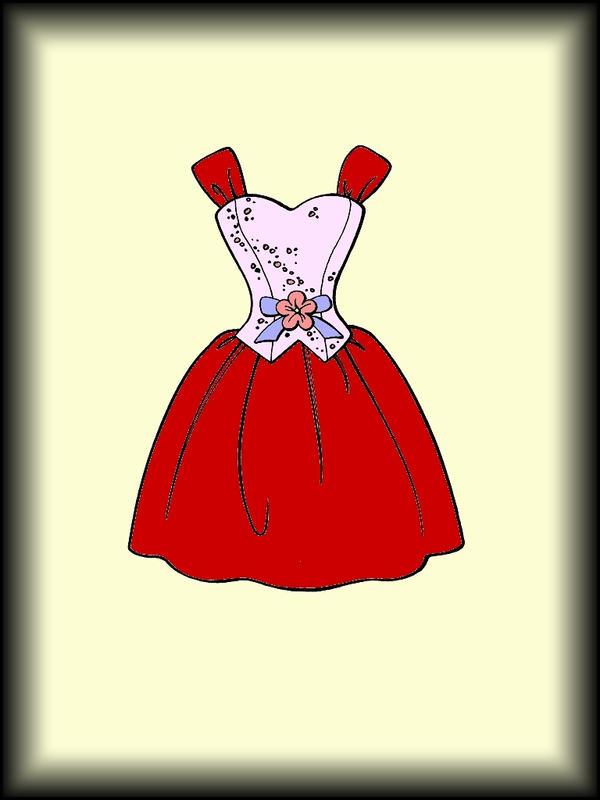 Prom dress cartoon simple prom dress by erozja