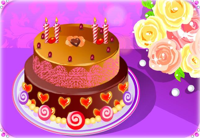B-day cake - Romantic by Erozja