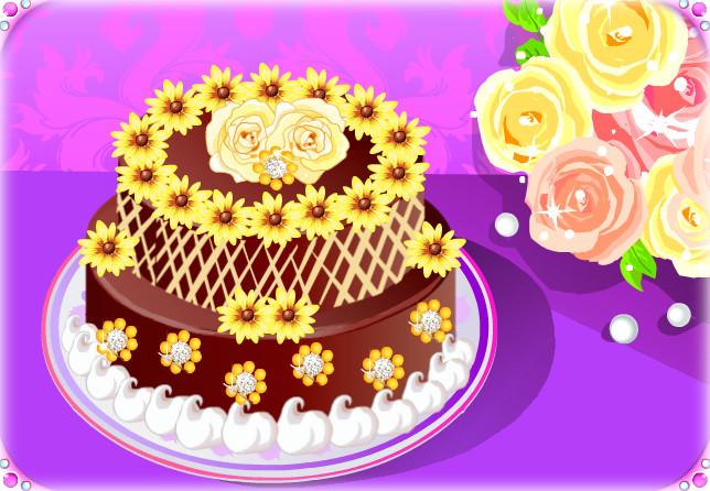 B-day cake - Yellow garden by Erozja