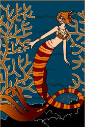 213. Mermaid princess - Coral by Erozja