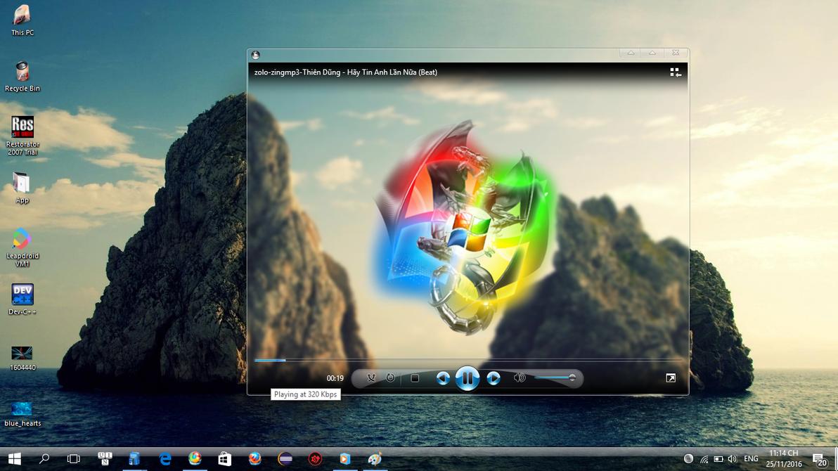 Windows Media Player Glass Remix by minh202020