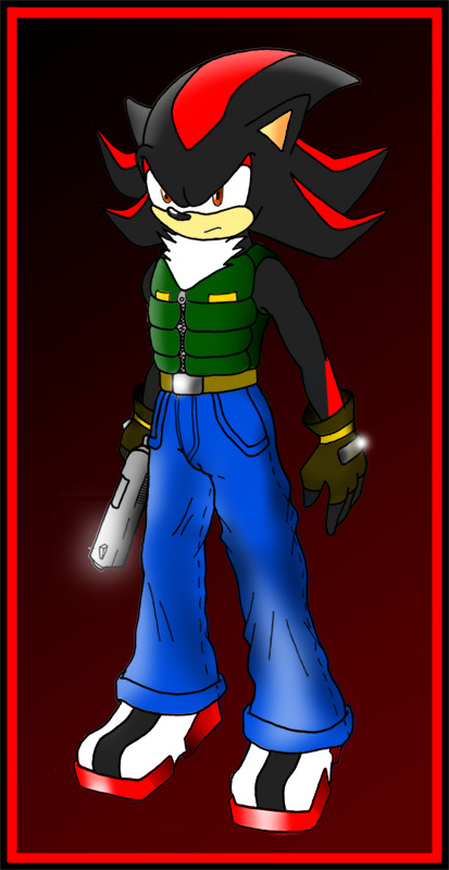 Shadow with a gun by Zephir-Zophar on DeviantArt