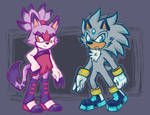 Blaze and Silver ( concept art version )