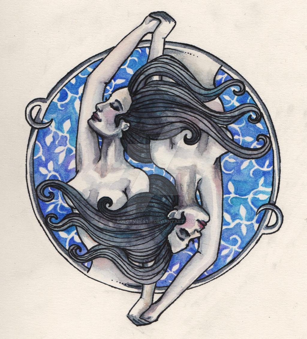 Gemini tattoo by colormekatie on deviantart for Gemini tattoo designs